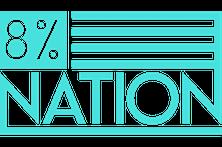 8% Logo No Glow NEW